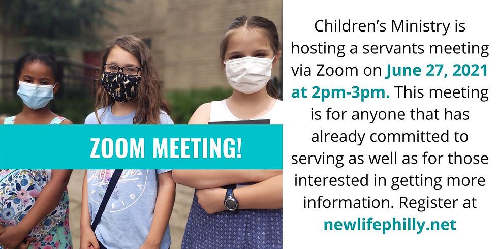 Children's Ministry Servant Meeting
