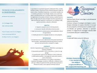 TECNICHE DI RILASSAMENTO IN GRAVIDANZA -11 e 18 maggio-