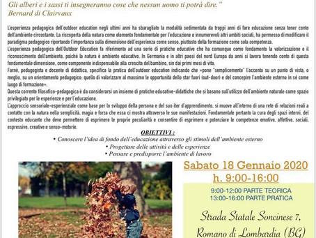 CORSO DI AGGIORNAMENTO PROFESSIONALE - OUTDOOR EDUCATION