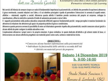 CORSO DI AGGIORNAMENTO PROFESSIONALE - PSICOMOTRICITÀ CON MATERIALI POVERI
