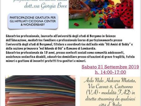 CORSO DI AGGIORNAMENTO PROFESSIONALE - L'OSSERVAZIONE DEL BAMBINO