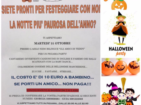 PIGIAMA PARTY DI HALLOWEEN