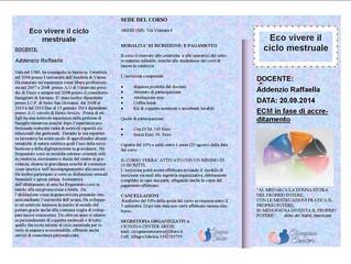 Eco-Vivere il Ciclo Mestruale - 20 Settembre 2014