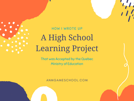 How I Wrote a High School Learning Project