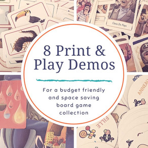 8 Print & Play Demos from Asmodee