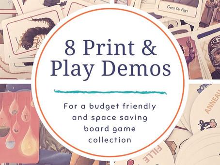 8 Print & Play Demos from Asmodee