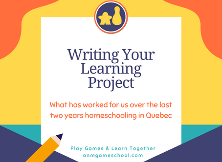 Writing Your Learning Project