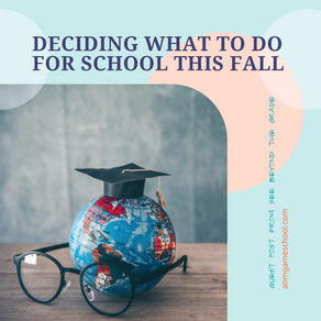 Deciding what to do for school this fall