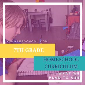 Our 7th Grade Curriculum