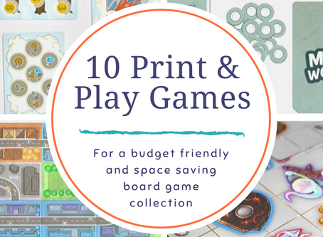 10 Print and Play Games for a $12 Collection
