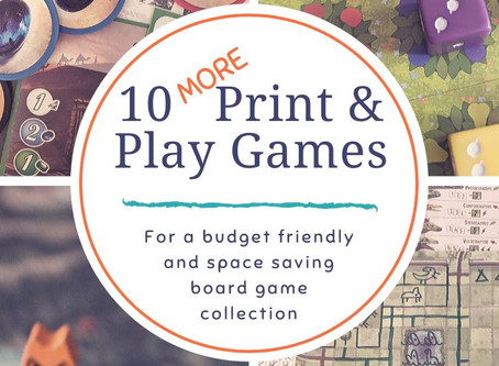 10 More Print and Play Games