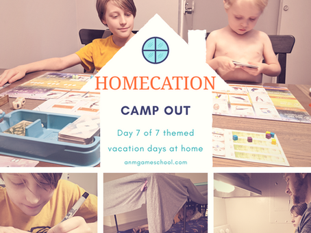 """Summer """"Homecation"""" 2020 - Camp Out"""