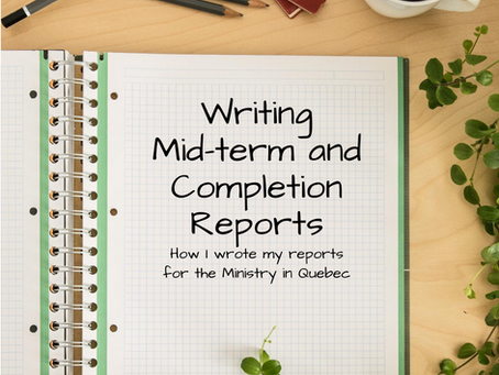 Writing the Mid-Term & Completion Reports