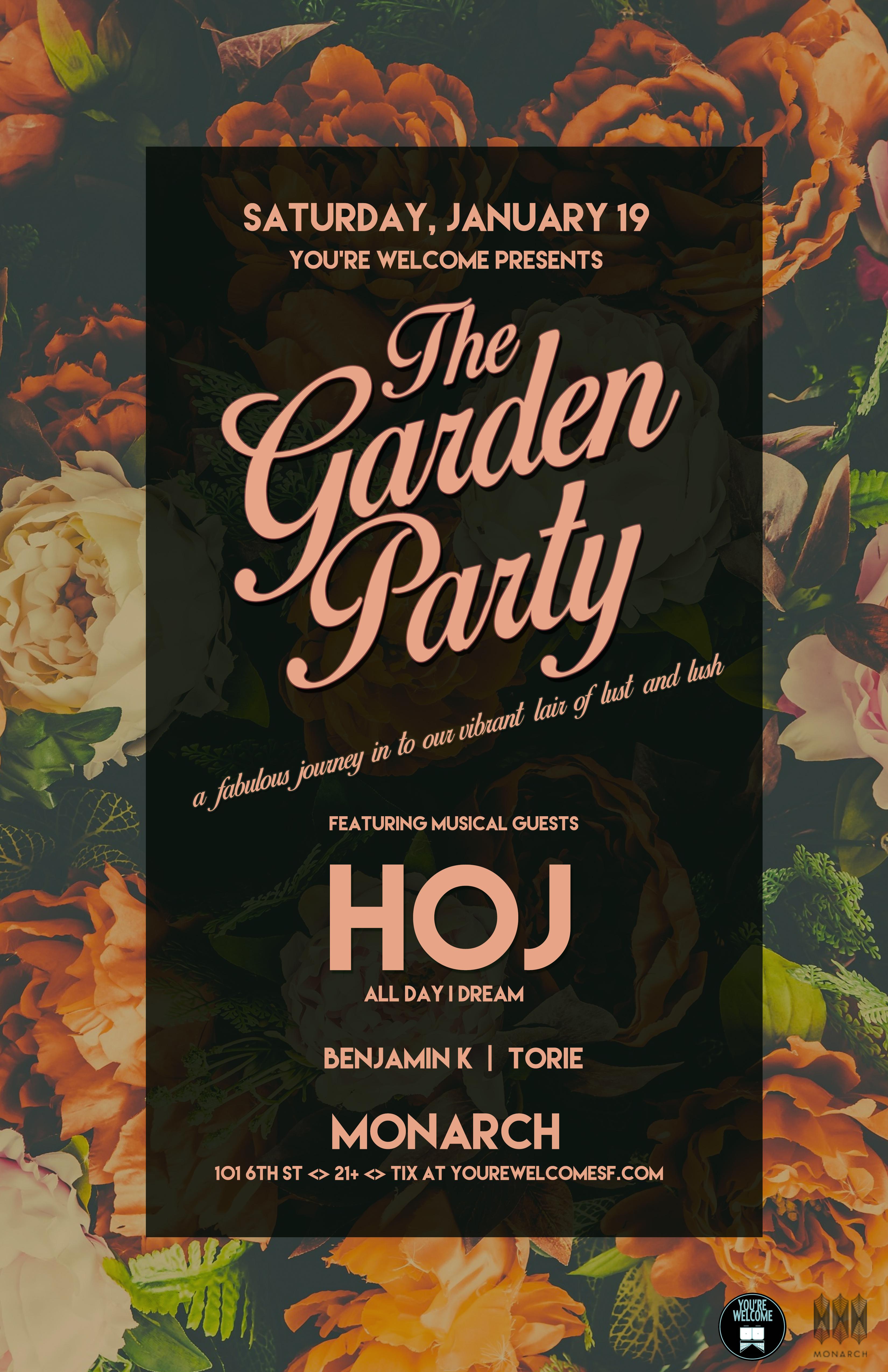 HOJ Garden Party 11x17