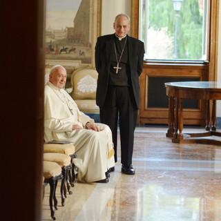 Pope Francis and Monsignor Sánchez Sorondo