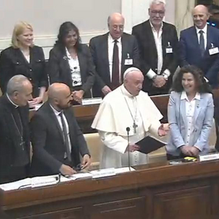 Pope Francis with judges and judges