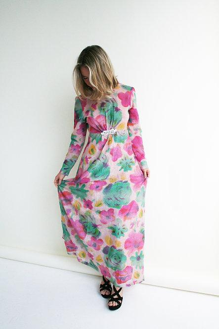 VINTAGE GLITTER SERENA MAXI DRESS