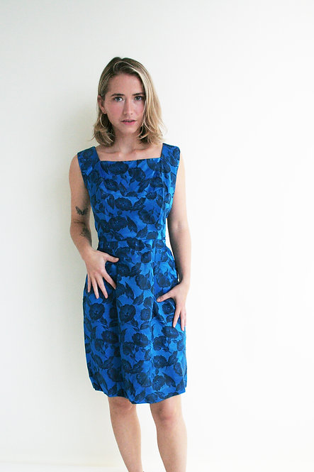 VINTAGE 50's FITTED DRESS