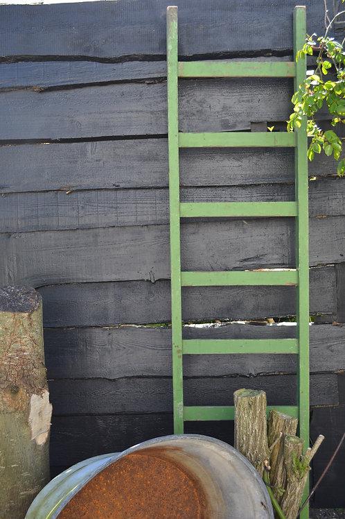 Groene houten ladder
