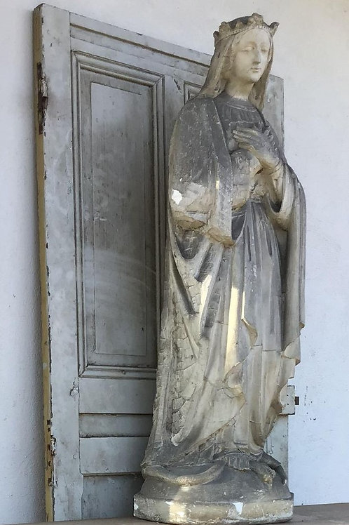 Uit de kerk van Frankrijk, religieus beeld