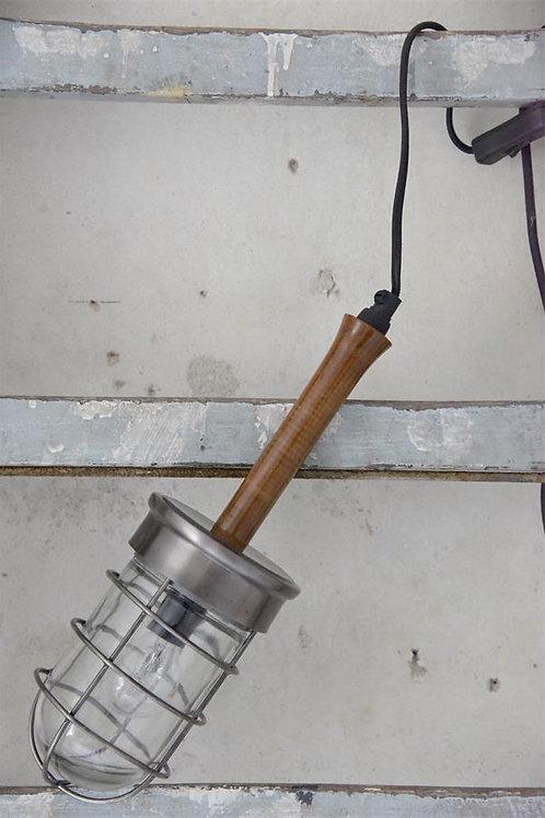 Stable lamp om op te hangen, Antique silver