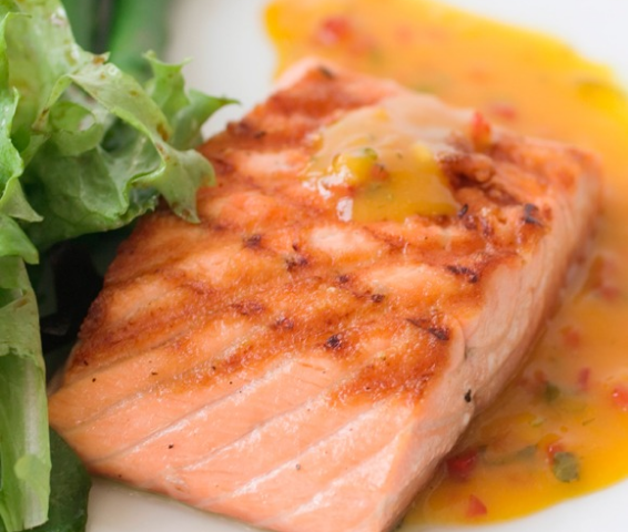 healthy salmon filet