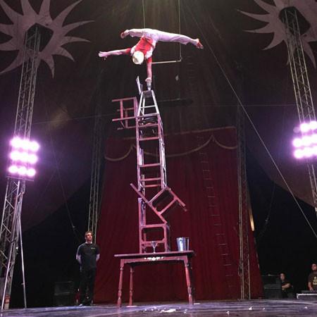 gymnist on stage