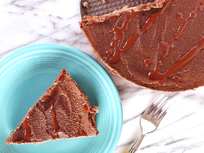 Vegan Chocolate Cheesecake by Beaming Banana