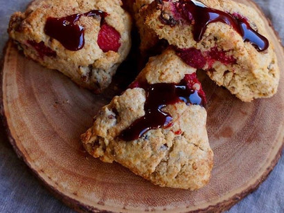 Orange-Date, Pecan & Raspberry Scones