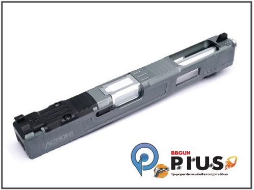 NOVA - FI Style 34樣式 鋁合金CNC滑套&外管組 (鈦色/銀)(MARUI/WE G17專用)