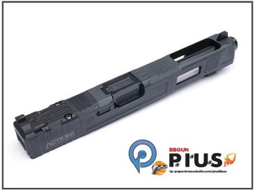 NOVA - FI Style 34樣式 鋁合金CNC滑套&外管組 (鈦黑黑)(MARUIWE G17專用)