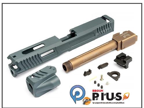 SAT - MARUI/WE G17瓦斯手槍專用 LKT樣式Cerakote鋼製滑套&外管套件組