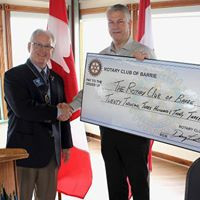 Rotary Club of Barrie Cheque Presentation