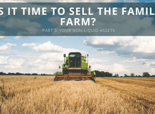 Your Non-Liquid Assets – Is it Time to Sell the Family Farm? (Part 3)