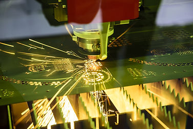 Manufacturing metalwork with sparks