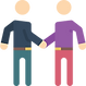 two men shaking hands icon
