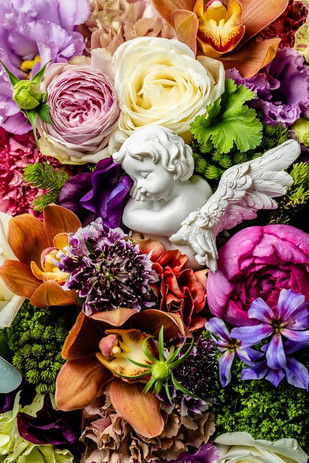 花と料理のコラボレッスン風景
