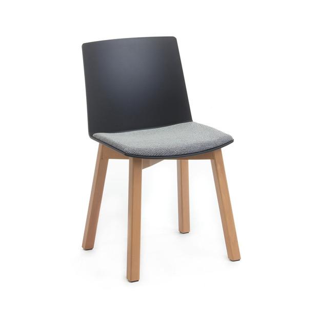 Balance Commercial   Elissa 4 Leg Timber w Seat Pad