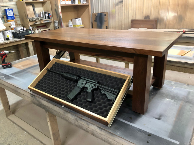 Coffee Table with Hidden Gun Pull Out.JP