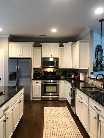 After- Kitchen Cabinet Refinish- Painted