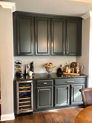 After- Kitchen Nook Refinish- Painted Da