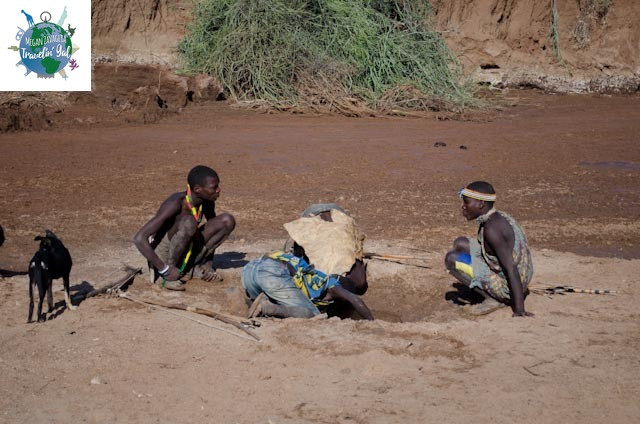 Hadzabe drinking from water hole.jpg