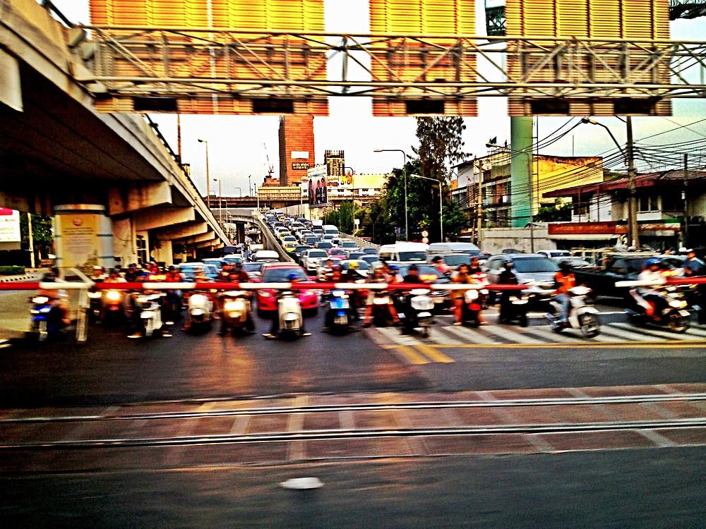 Bangkok vu du train