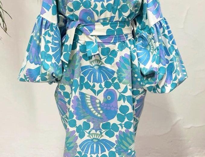 Blue bird fly dress