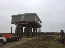Beach front home going up in Crystal Beach