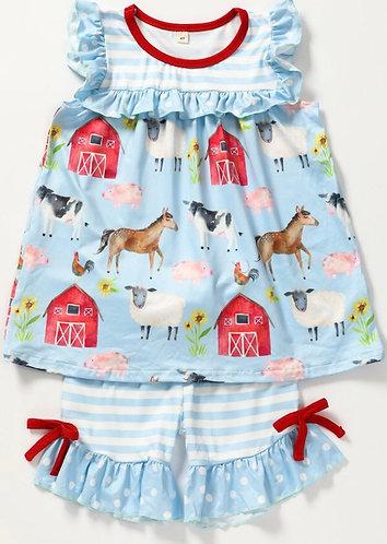 Farm Friends Shorts Set