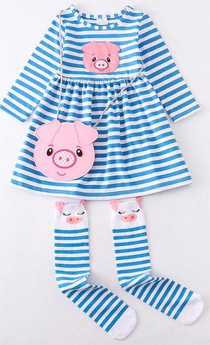 This Little Piggy Dress Set (In stock)