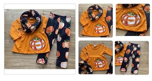 Pumpkin Scarf Set