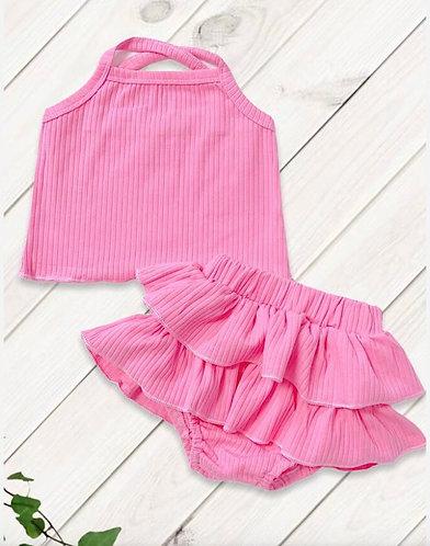 Criss Criss Shirt &  Skirted Bloomer Set