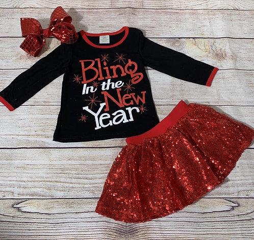 Bling New Year Skirt Set
